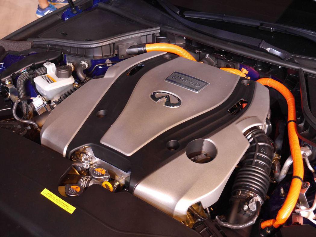 3.5升 Hybrid油電混合動力系統。記者林昱丞/攝影