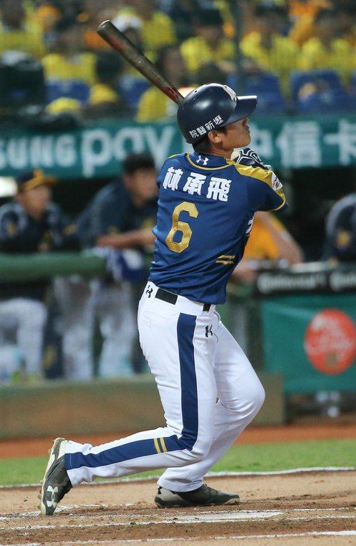 桃猿第七棒林承飛全場8打點,獲選MVP。記者黃仲裕/攝影
