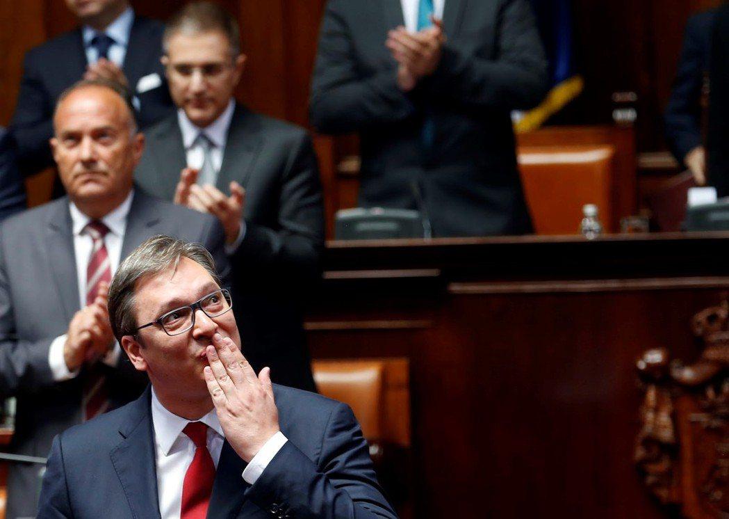 塞爾維亞總統武契奇:歐盟,你就是偽善! 圖/美聯社