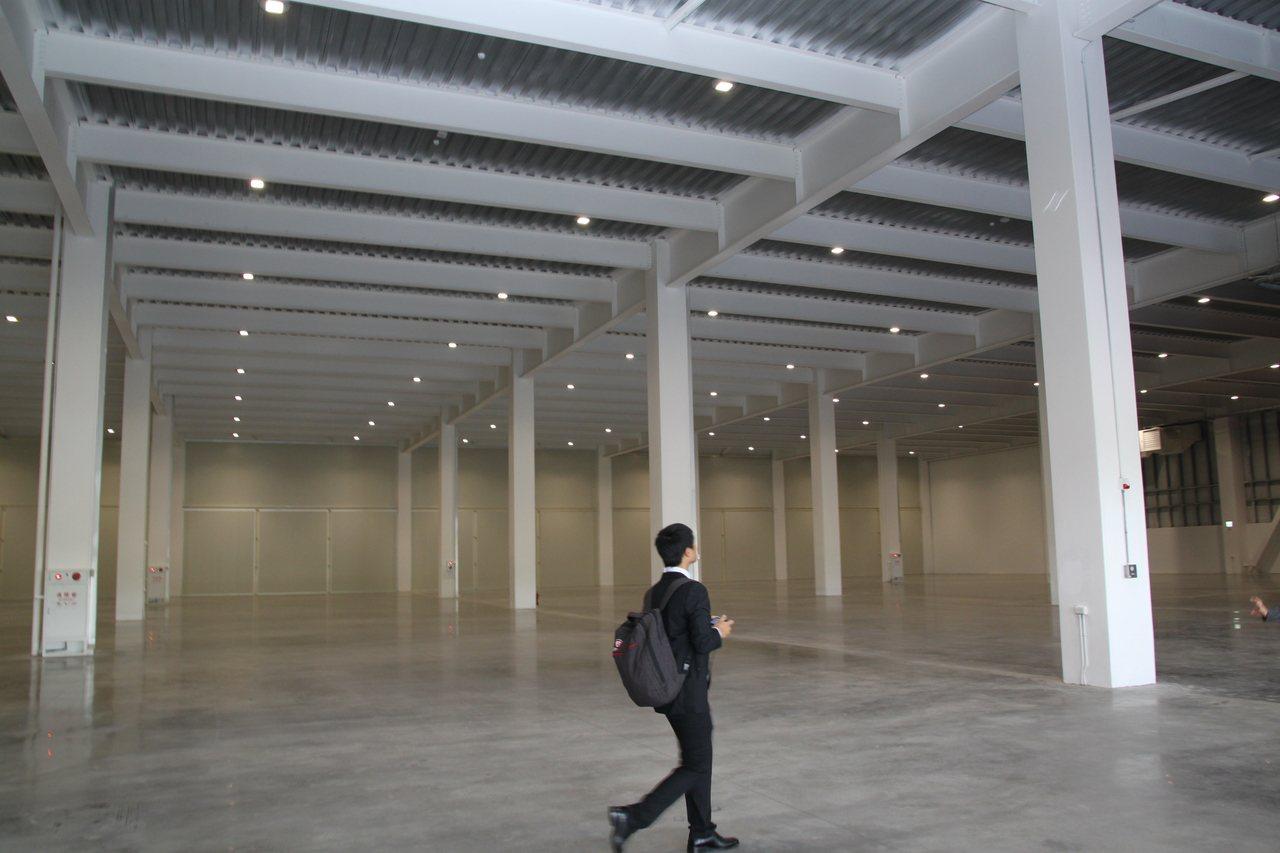 「物流共和國台中園區」內容空間十分寬敞。記者黃寅/攝影