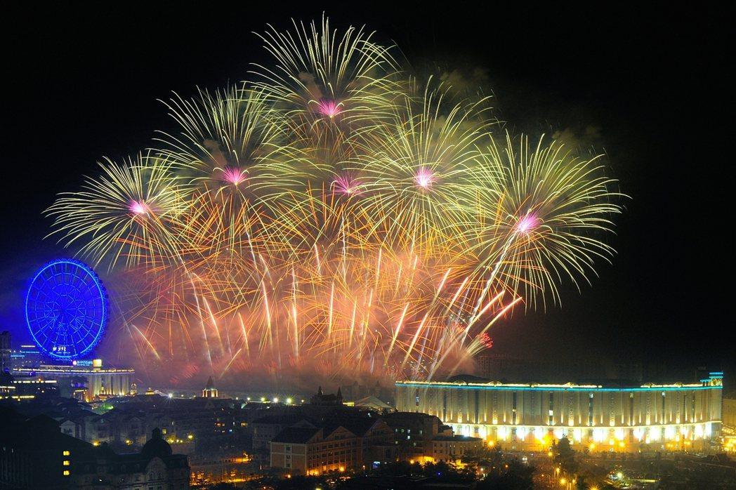 義大世界跨年煙火每年吸引數萬人共襄盛舉。圖/義大世界提供