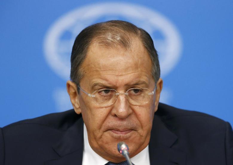 俄羅斯外交部長拉夫羅夫。路透