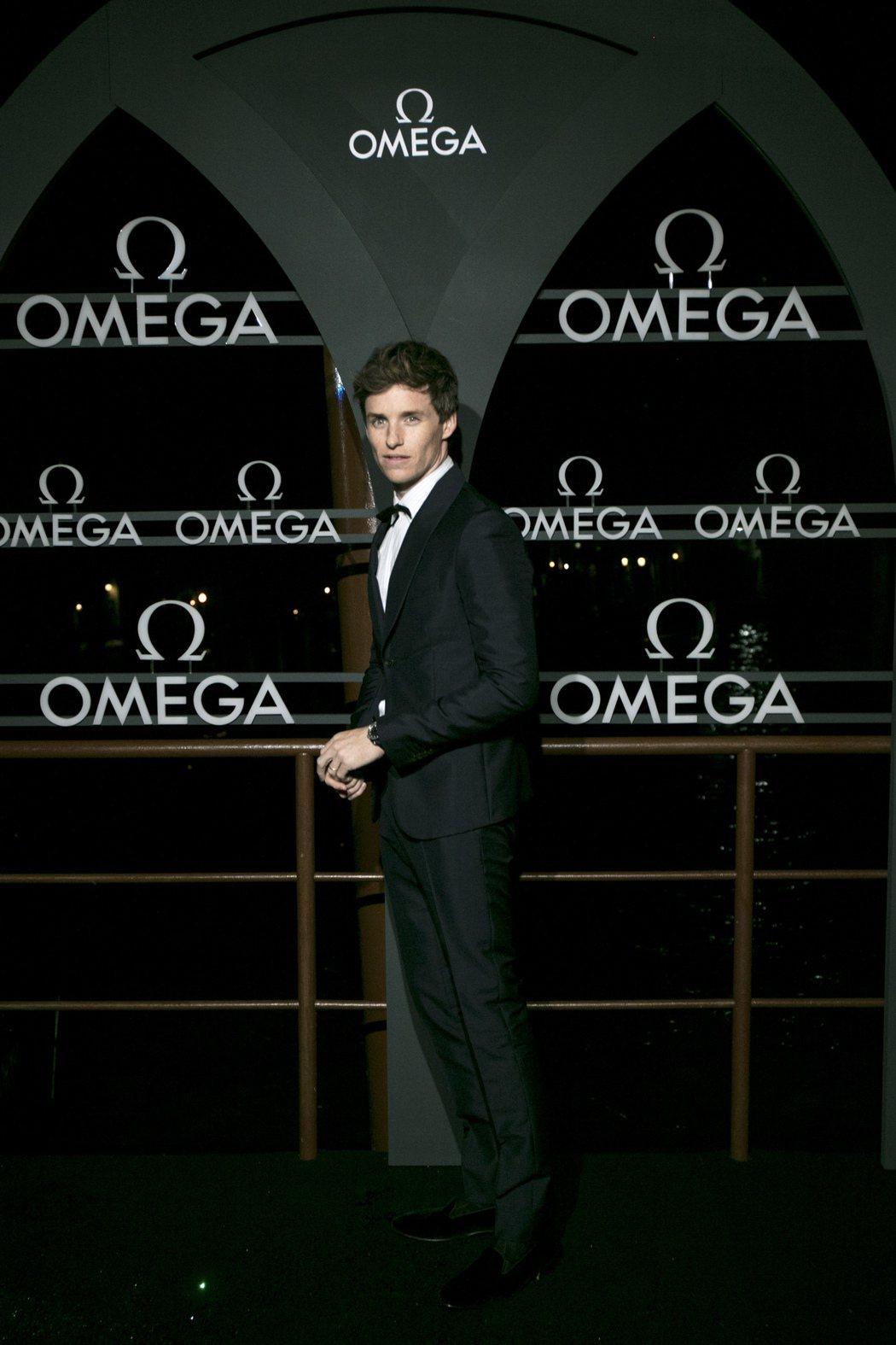 奧斯卡影帝出席歐米茄在威尼私舉辦的Aqua Terra腕表活動。圖/OMEGA提