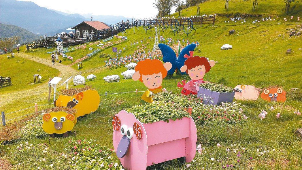 清境農場是中台灣好玩卡的主打行程。圖為清境農場風車節。本報資料照片