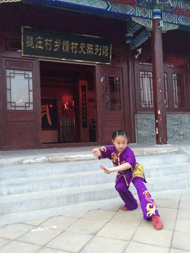 武舉人後代賈子萱。 圖╱北京市台辦提供