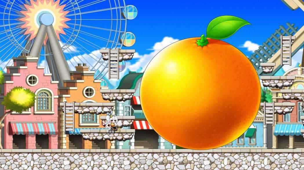 「橘子樂園超大型橘子」在限制時間內擊殺超大型橘子怪物,即可獲得橘子硬幣及咒文的痕...