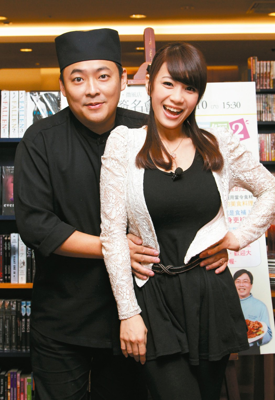 柯以柔(右)和郭宗坤曾經恩愛。 圖/聯合報系資料照