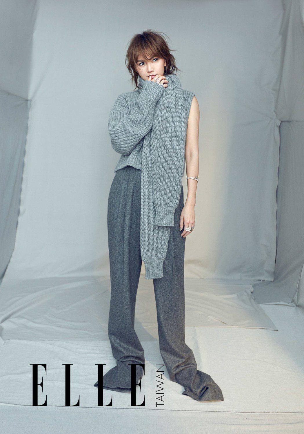 孫燕姿為時尚雜誌拍攝封面。圖/ELLE提供