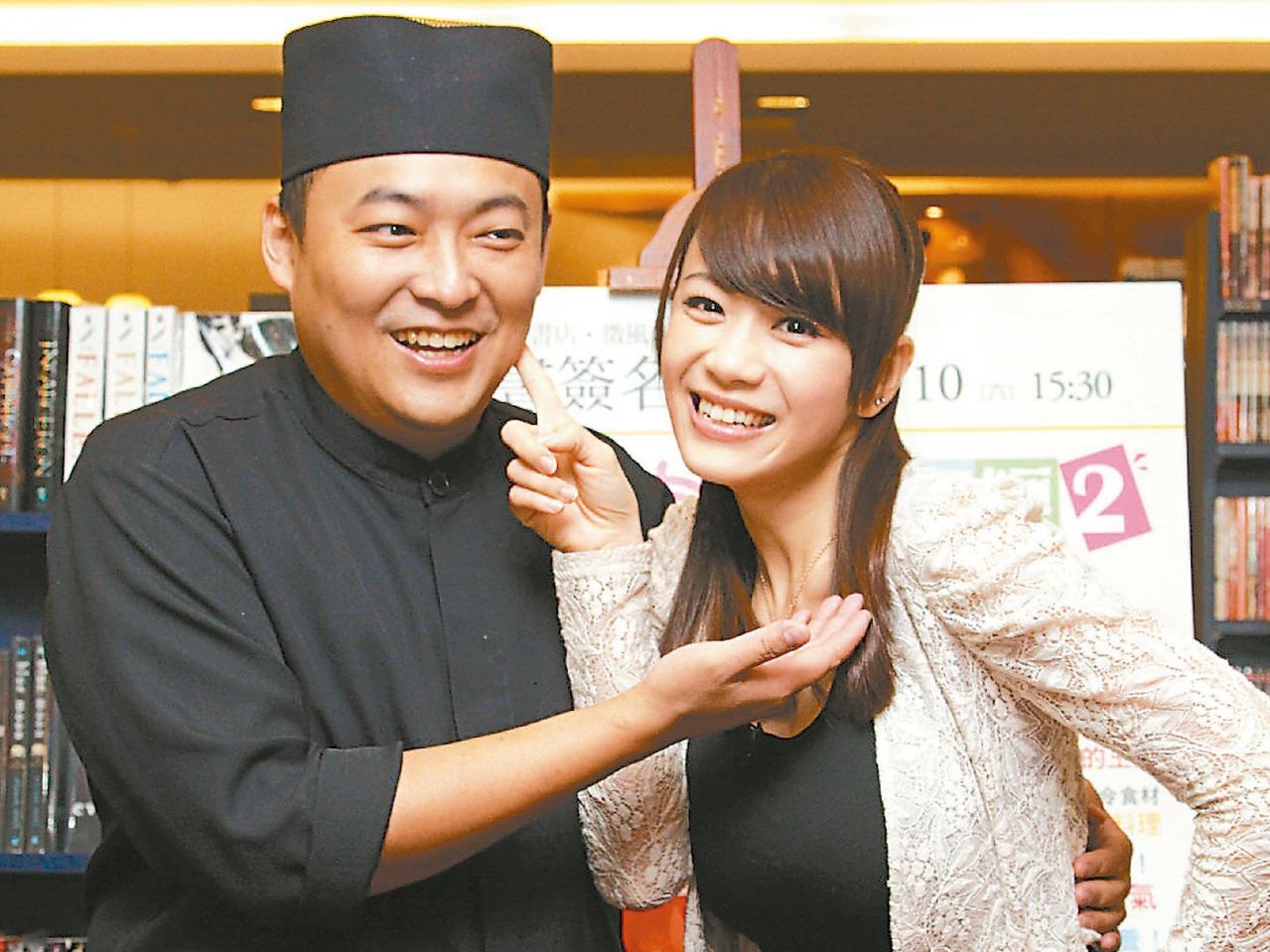 柯以柔(右)與老公郭宗坤恩愛已不再。 本報資料照片