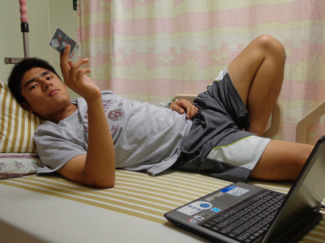 2013高中二年級。持續高燒,由台北榮民總醫院轉回高雄長庚醫院(像回到家般的自在...