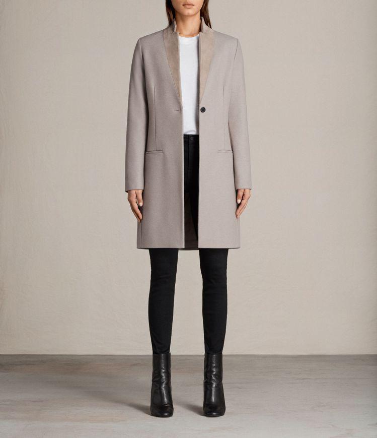 Leni磨砂色大衣,定價17900。圖/AllSaints提供