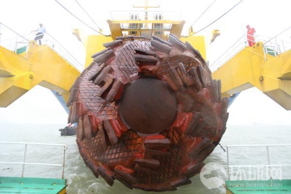 「天鯤號」的兄弟-「天鯨」號的削岩如泥絞刀利器。 圖/摘自環球網