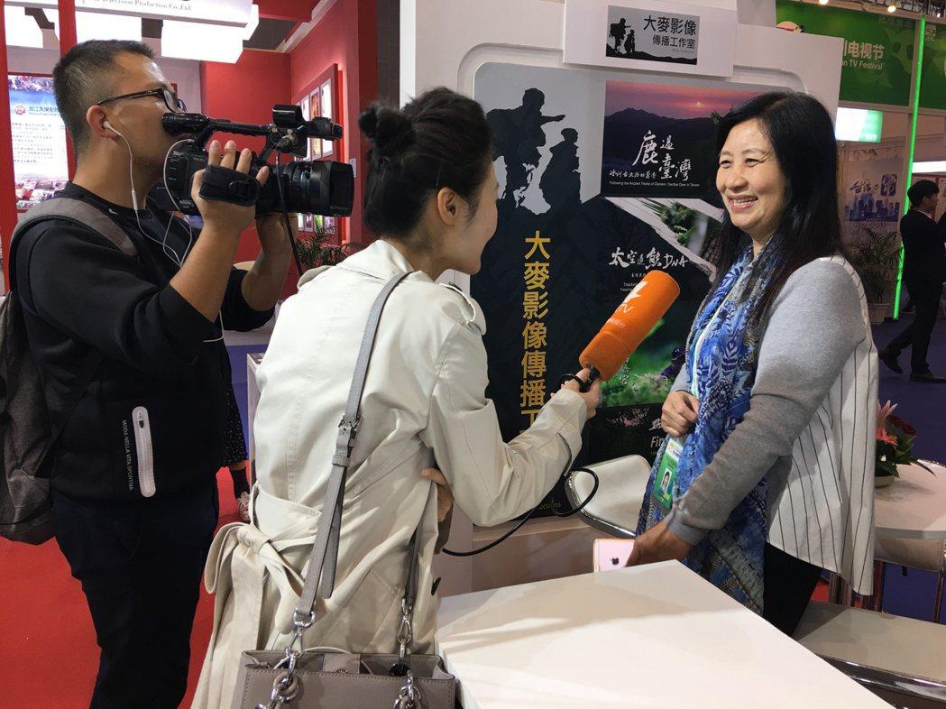 四川電視台訪問台灣紀錄片團隊。記者楊起鳳/攝影