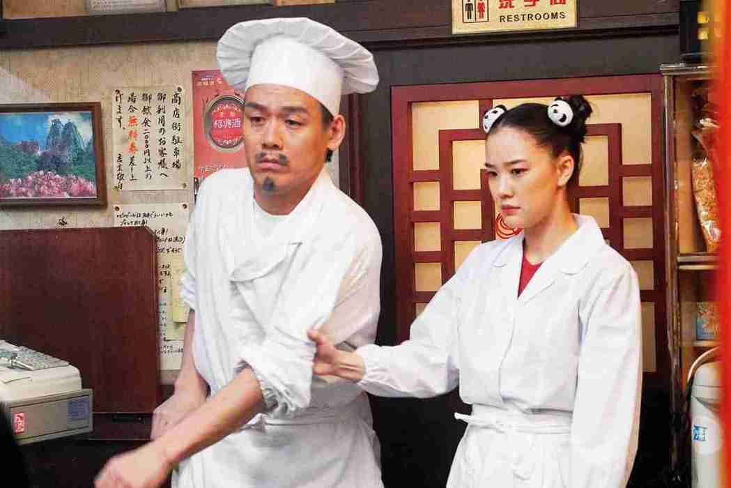 蒼井優在「乒乓少女大逆襲」當中扮演四川妹子。圖/傳影互動提供