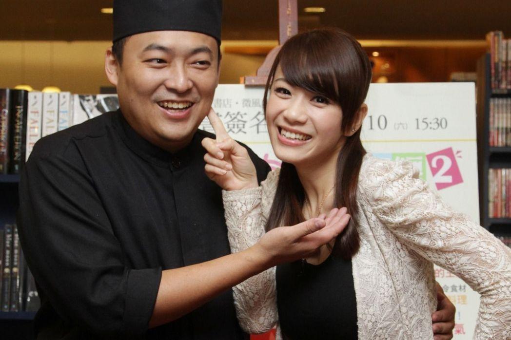 柯以柔(右)與老公郭宗坤。本報系資料照