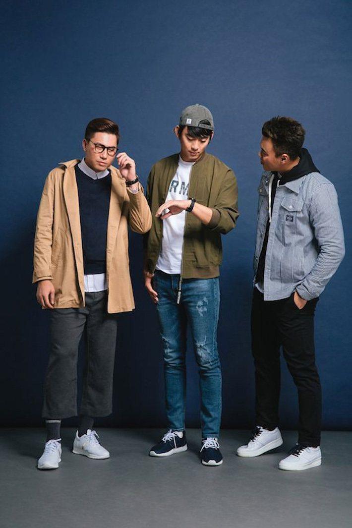 鄭承浩、王溢正與藍寅倫有別於球場上造型,以街頭潮流風格混搭Life8聯名運動鞋。...