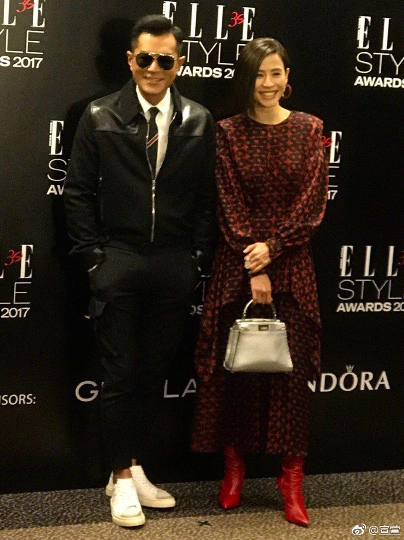 古天樂與宣萱在時尚活動上同框。圖/擷自宣萱微博