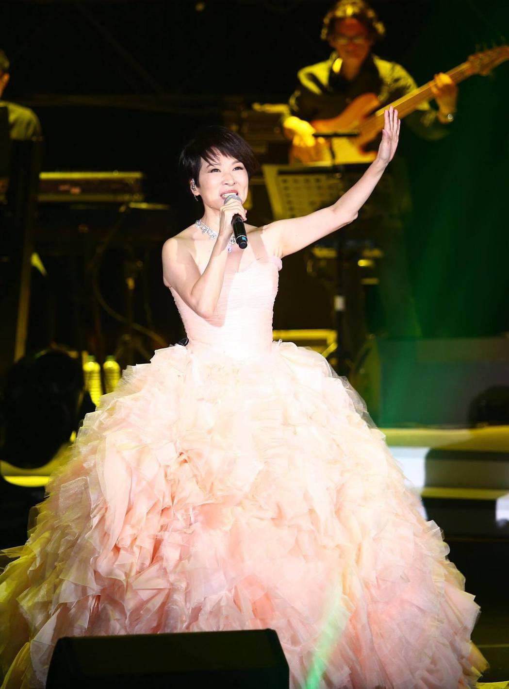 林慧萍3日起一連兩天在台北國際會議中心舉辦演唱會。記者王騰毅/攝影