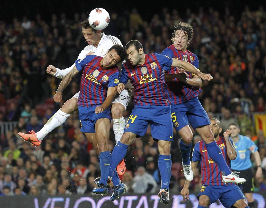 2014年諾坎普球場,皇家馬德里與巴薩的經典賽對決。 (路透)