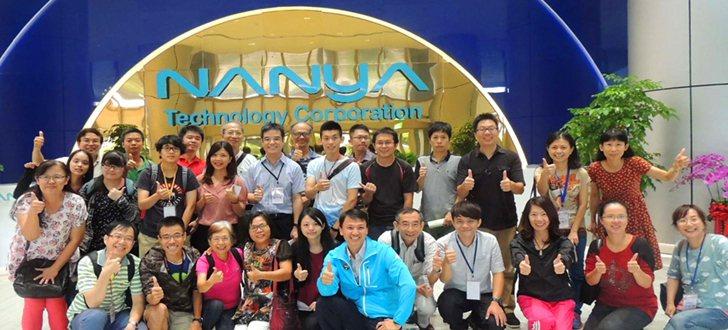 明志科大化工系教授與各校高工職教師代表參訪南亞科技。 校方/提供