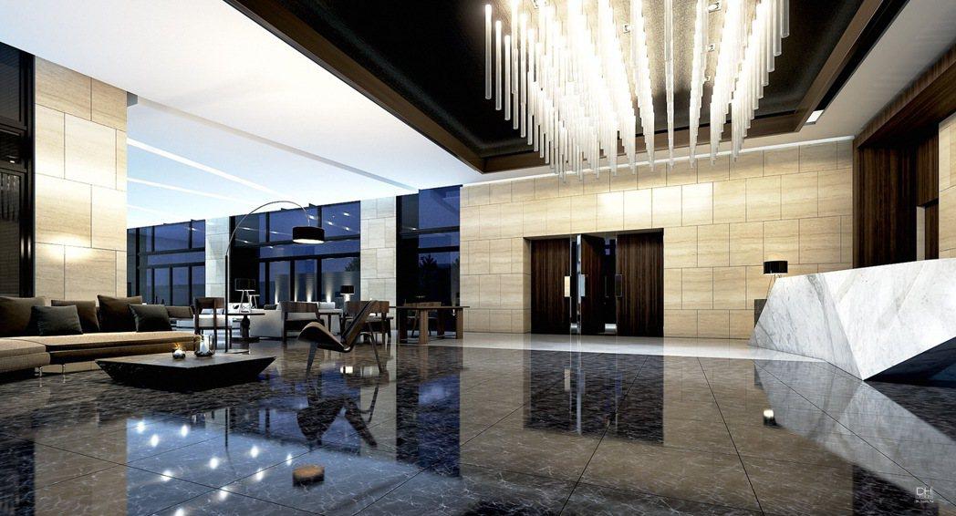「晴空樹」朗闊的大廳,豪宅等級的安全管理,面子裡子都兼顧(圖為3D情境示意圖)。...