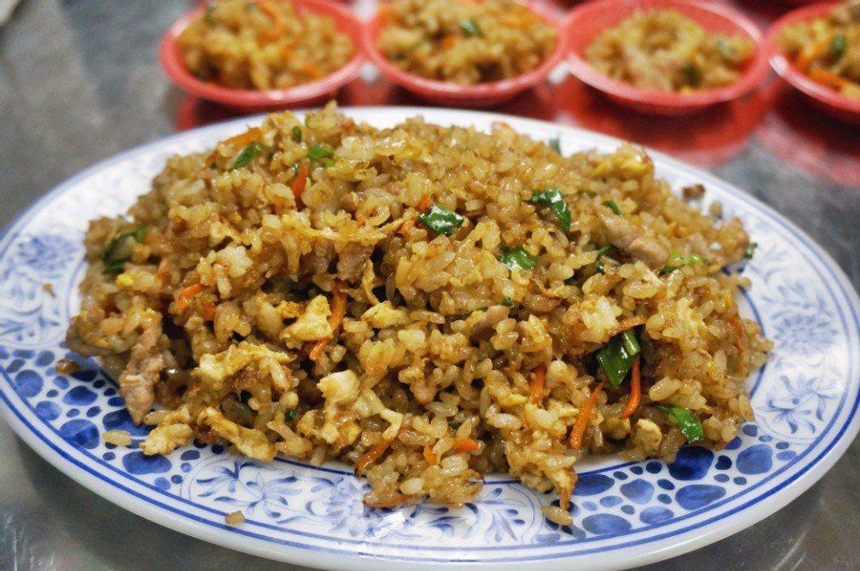 胡天兰推荐的阿香炒饭。(摄影/林郁姗)