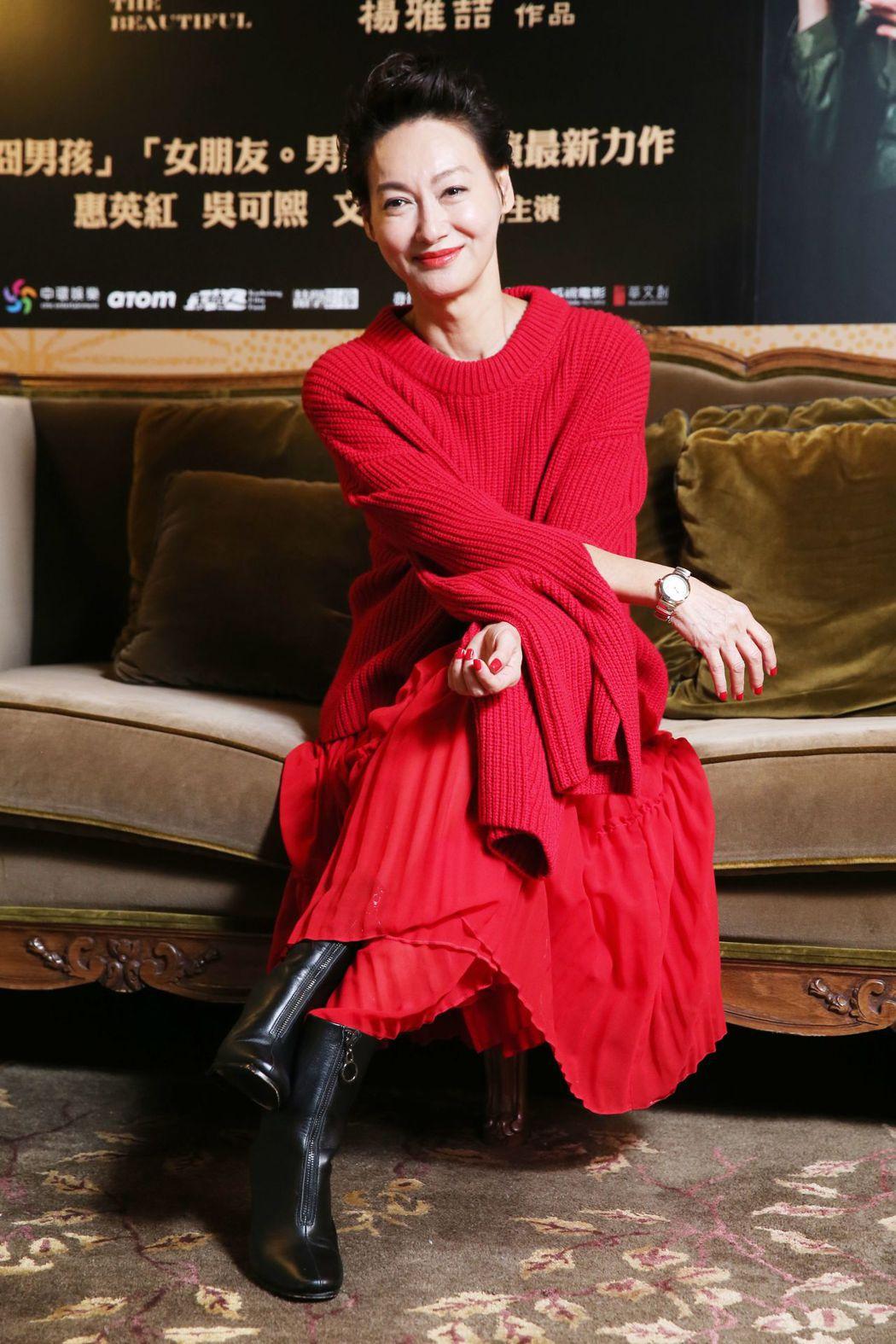 惠英紅以「血觀音」角逐本屆金馬獎影后。記者徐兆玄/攝影
