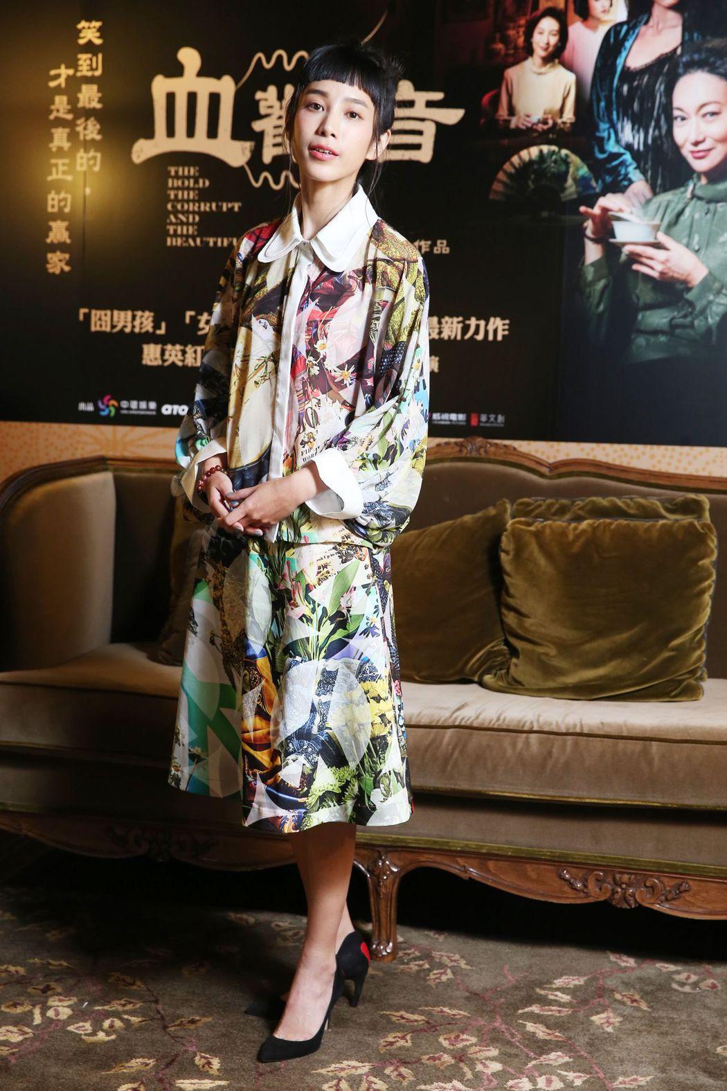 溫貞菱在「血觀音」很多戲份都「躺著演」。記者徐兆玄/攝影