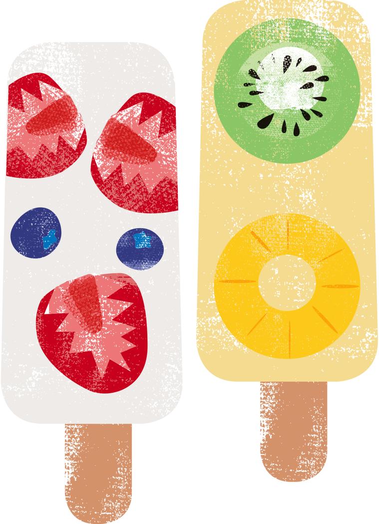 優酪乳漸層冰棒 繪圖/杜玉佩
