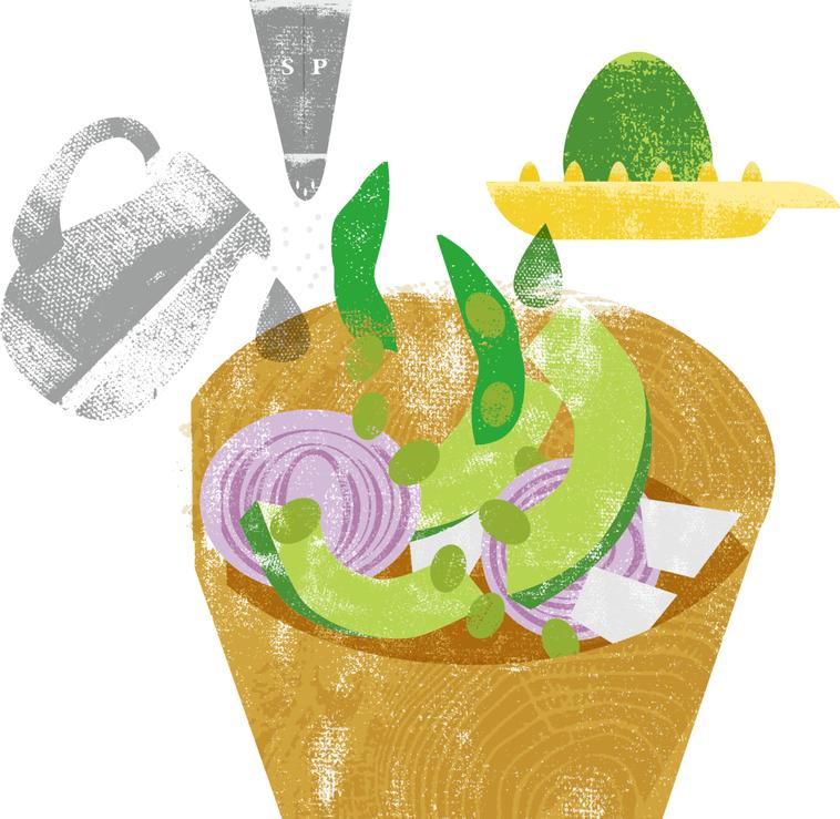 酪梨優酪乳沙拉 繪圖/杜玉佩
