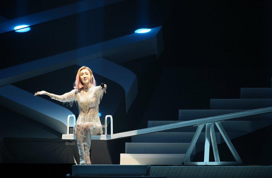 范瑋琪昨天舉行演唱會,一連演唱25首歌曲。記者許正宏/攝影