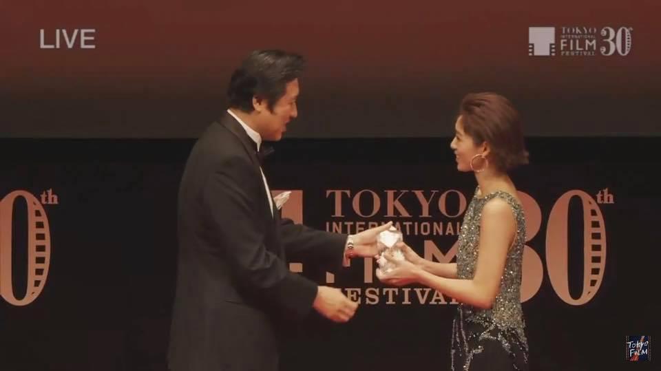 劉倩妏出席東京影展,以「「阿奇洛(Aqérat)」一片拿下東京寶石獎。圖/伊林提