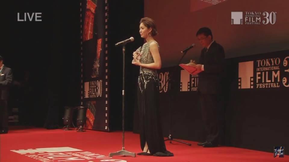 劉倩妏出席東京影展,以「「阿奇洛(Aqérat)」一片拿下東京寶石獎。圖/伊林提...