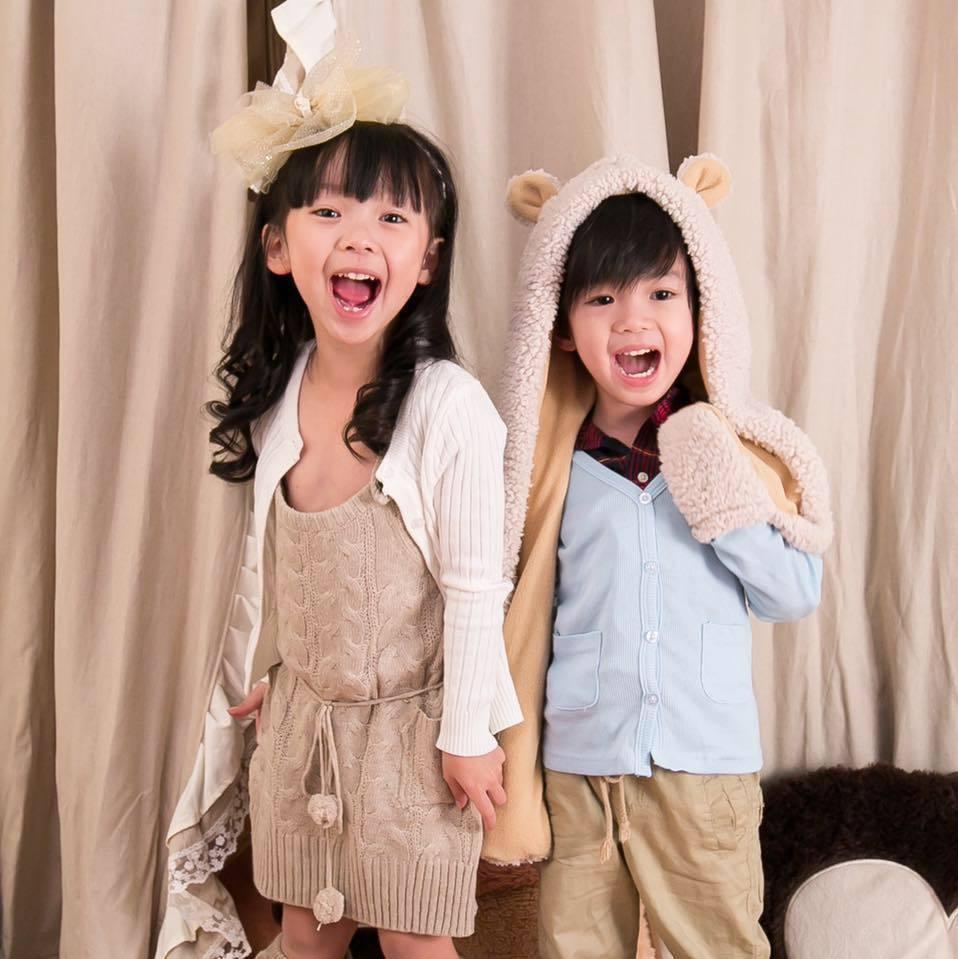 林裔臻(左)是「紅衣小女孩」的童星之一,弟弟林杰叡也是小演員。圖/摘自臉書