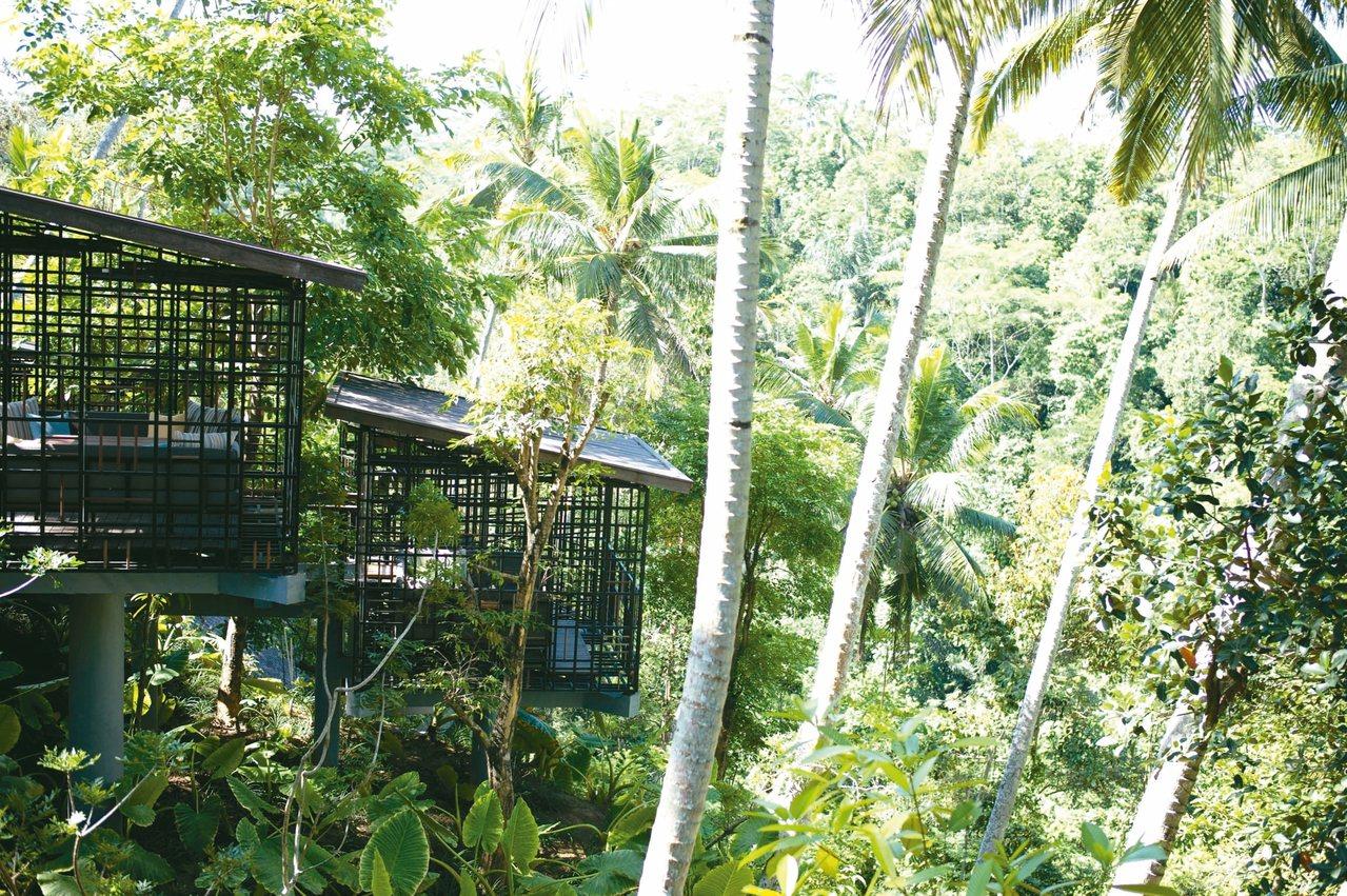 虹夕諾雅峇里島的鳥籠咖啡屋是最招牌的設施服務。 記者錢欽青/攝影