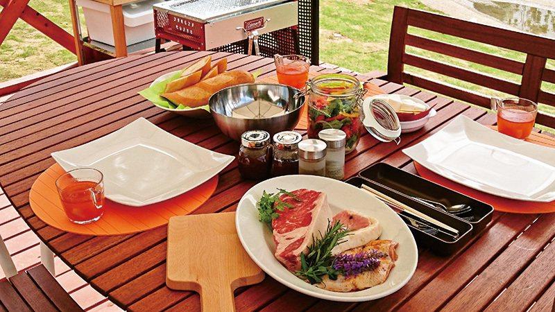 餐點選用的食材皆為農園栽種的有機作物,新鮮美味又兼顧營養。