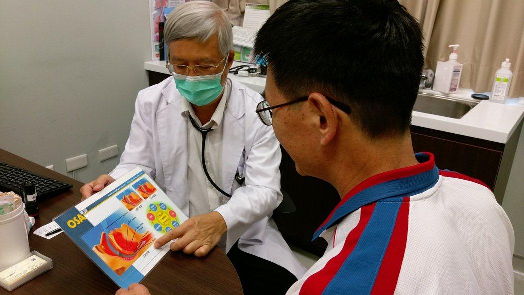 長安醫院胸腔科醫師周志和說,睡眠呼吸中止症是因上呼吸道狹窄,在睡眠時肌肉張力的下...