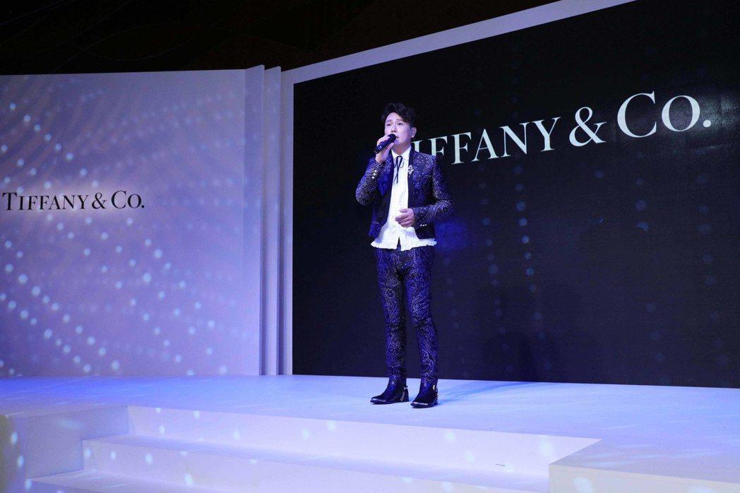 張信哲參加國際品牌TIFFANY&CO.為超級VIP舉辦的晚宴。圖/潮水音樂提供