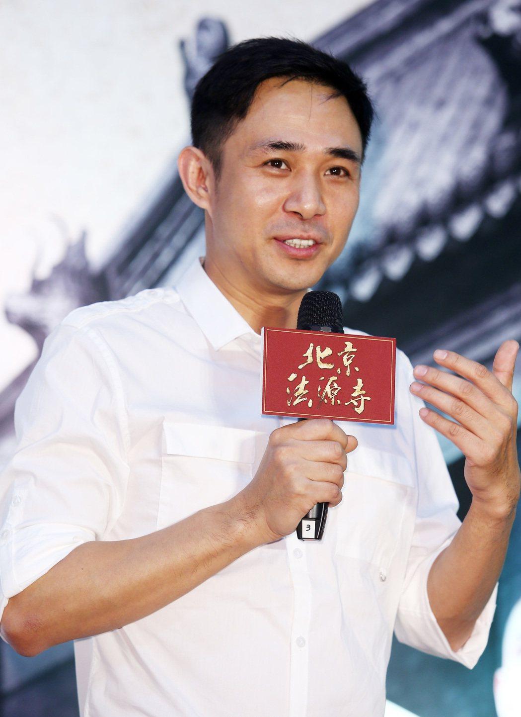 《北京法源寺》舞台劇主要演員,飾演譚嗣同的賈一平。記者杜建重/攝影