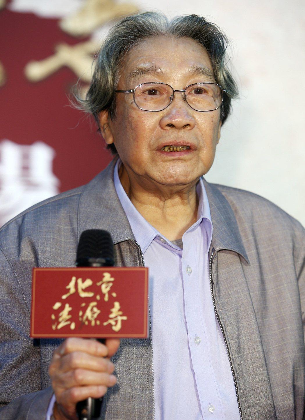 《北京法源寺》舞台劇主要演員,飾演李鴻章的黃小立。記者杜建重/攝影