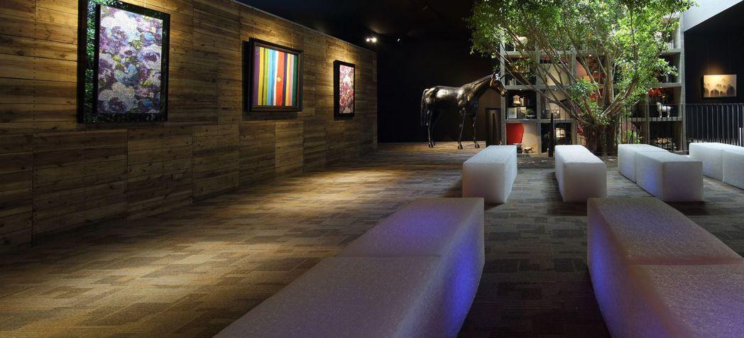 樂樂書屋的2樓是多功能展演廳,可以聽演講辦座談,也可以舉辦展覽。 圖/樂樂書屋提...