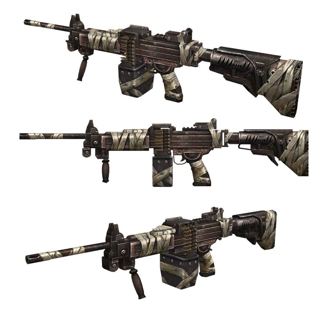體驗新地圖「驚爆摩天樓」 就能獲得的「戰鬥型內蓋夫輕機槍NG7」。