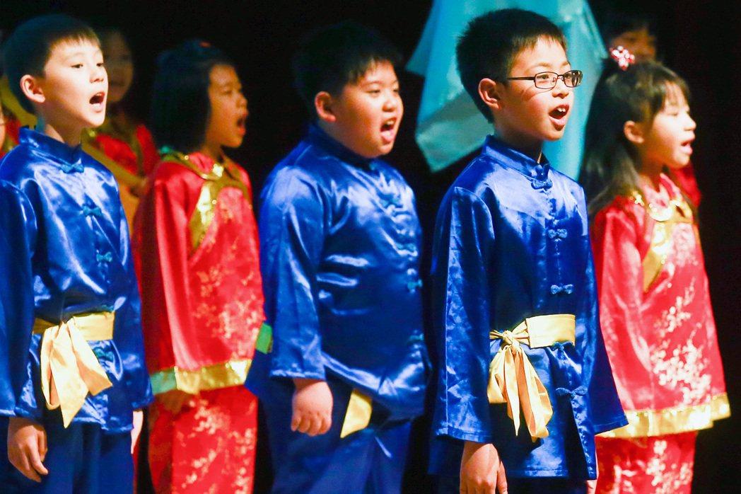 2015年國家圖書館為慶祝世界書香日而舉辦的朗讀演唱大會。 圖/聯合報系資料照