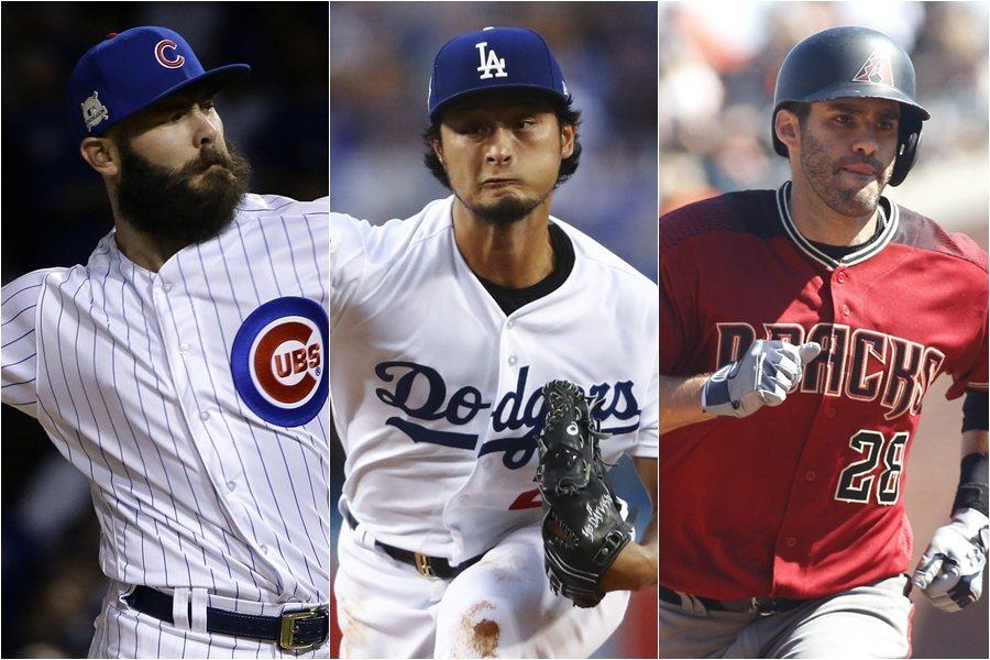 艾里耶塔、達比修有與馬丁尼茲是今年MLB三大自由球員。 美聯社