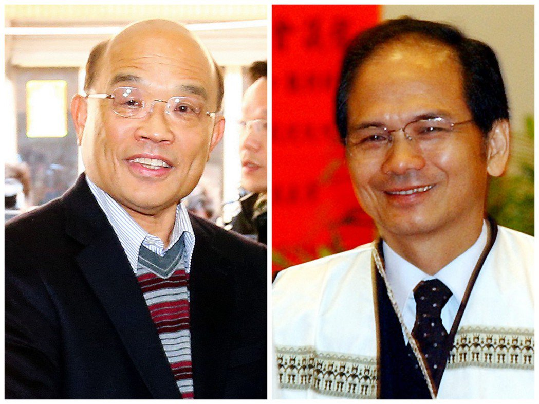 蘇貞昌(左)是台北老縣長、游錫堃(右)2014年以些微差距落選新北市長。 圖/報...