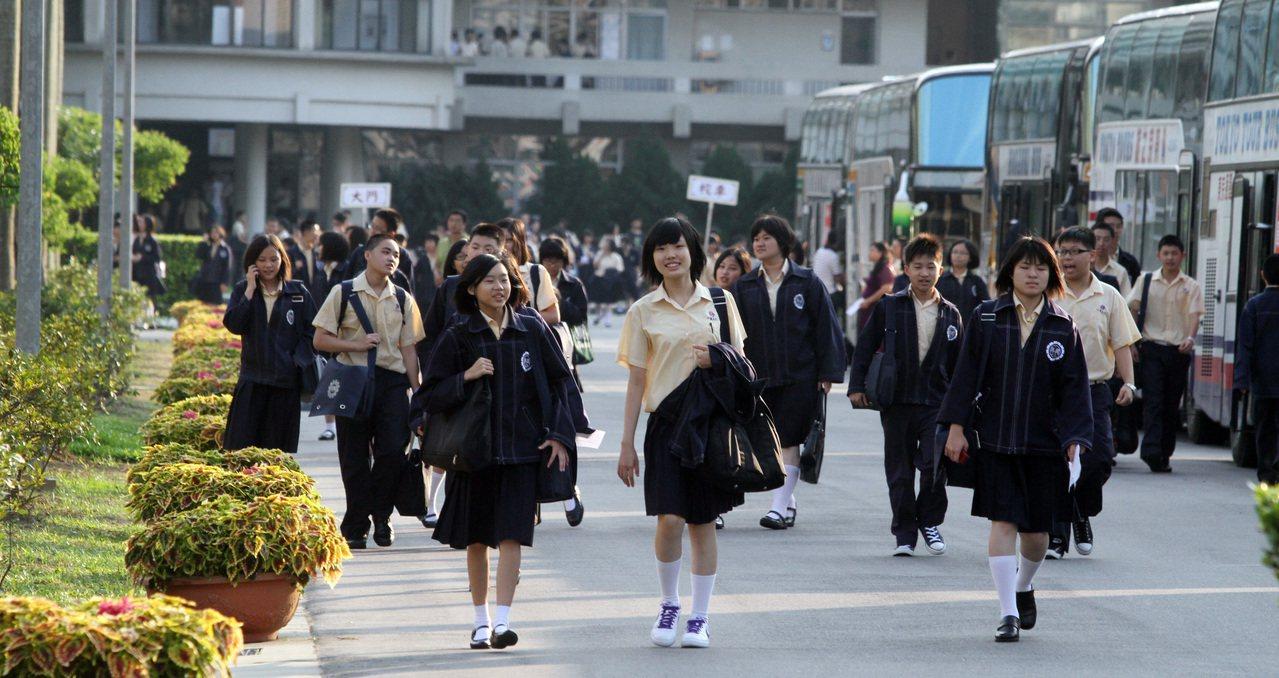 高中職的學生。聯合報系資料照/記者黃義書攝影