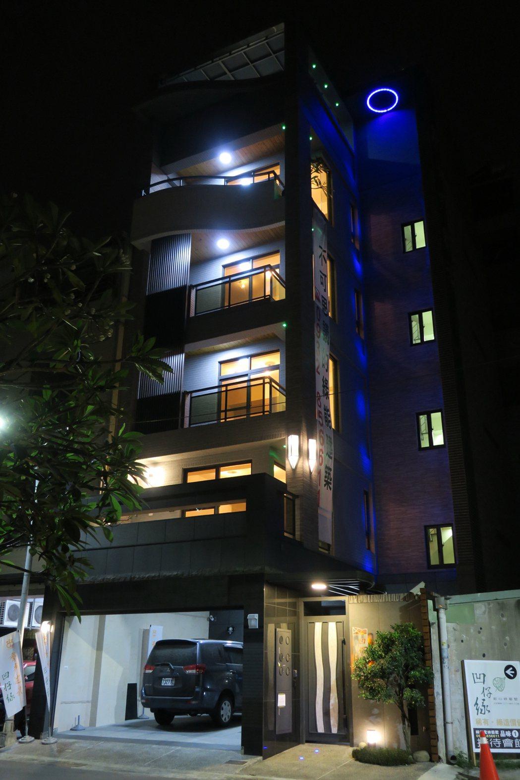 「凹仔綠」創藝夜間燈光設計。 圖片提供/齊步建設