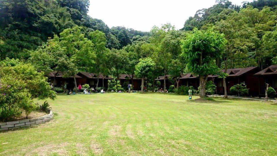 綠油油的草皮和林蔭蓊鬱的樹林,讓人感覺心情好放鬆。(圖片來源/飛鳳園FB粉絲團)