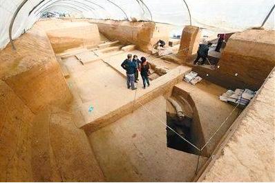 陝西西安市近日發現,戰國秦國國君與后妃的高級浴室。(西安晚報)