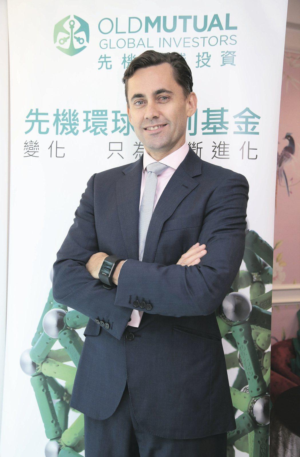 先機環球投資亞洲股票團隊主管關睿博(Josh Crabb)。 毛洪霖/攝影